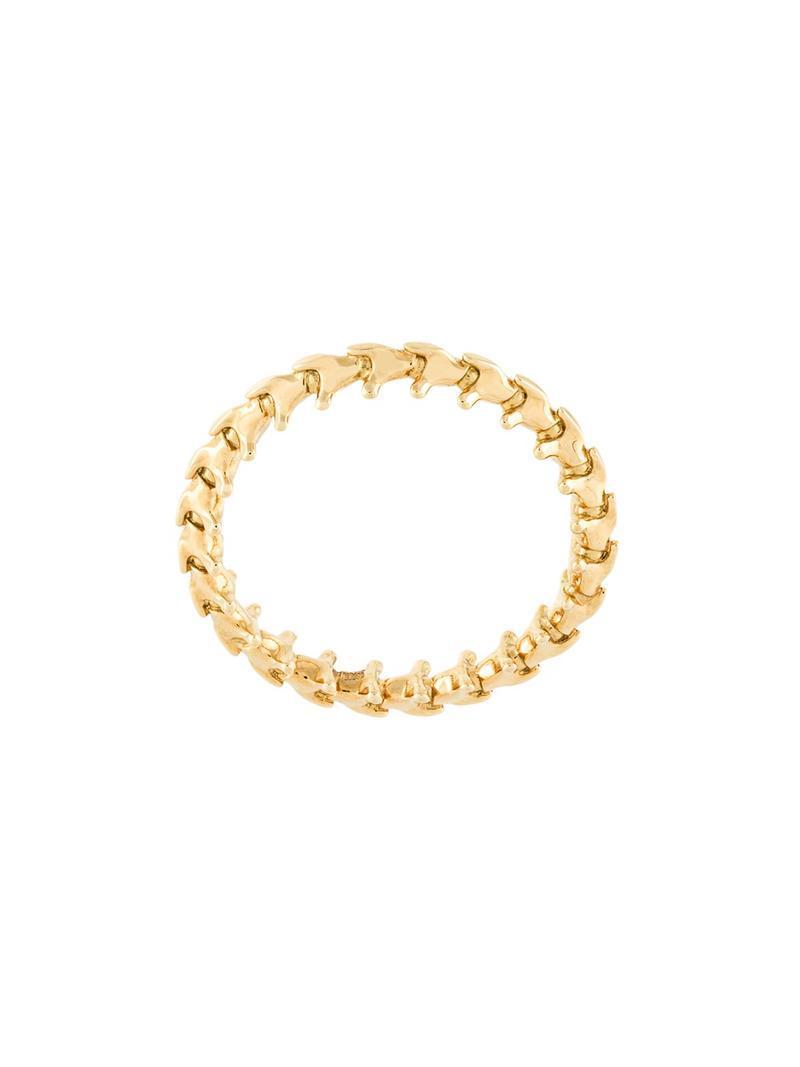 Shaun Leane 18kt white gold Interlocking ring - Metallic vUhf642de