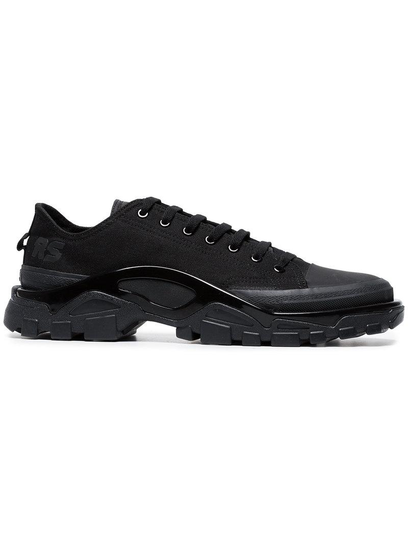 Latest Latest Adidas X Raf Simons Black Brown Detroit Runner Canvas Casual Shoes for Men On Sale Sale