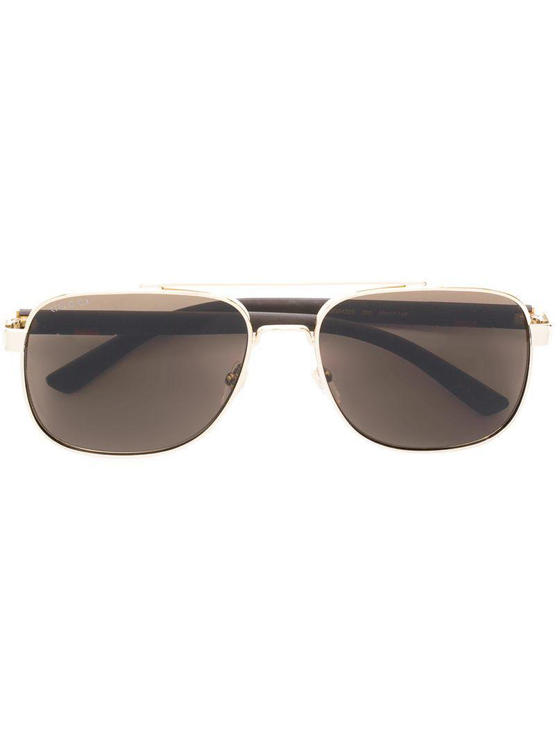2d9a33c4b5 Gucci Aviator Style Sunglasses in Brown for Men - Lyst