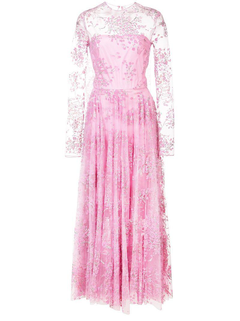 4bcc3c6709aad Lyst - Christian Siriano Embellished Tulle Full Dress in Pink