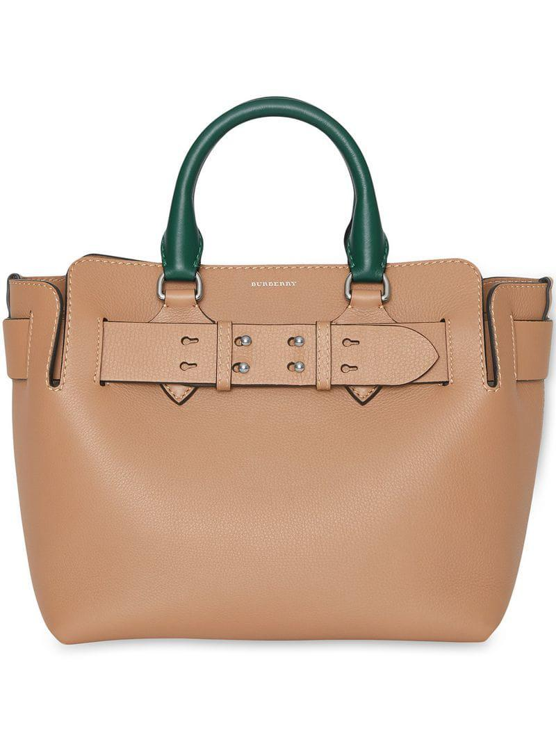 c425d223bf Burberry The Small Tri-tone Leather Belt Bag in Brown - Lyst