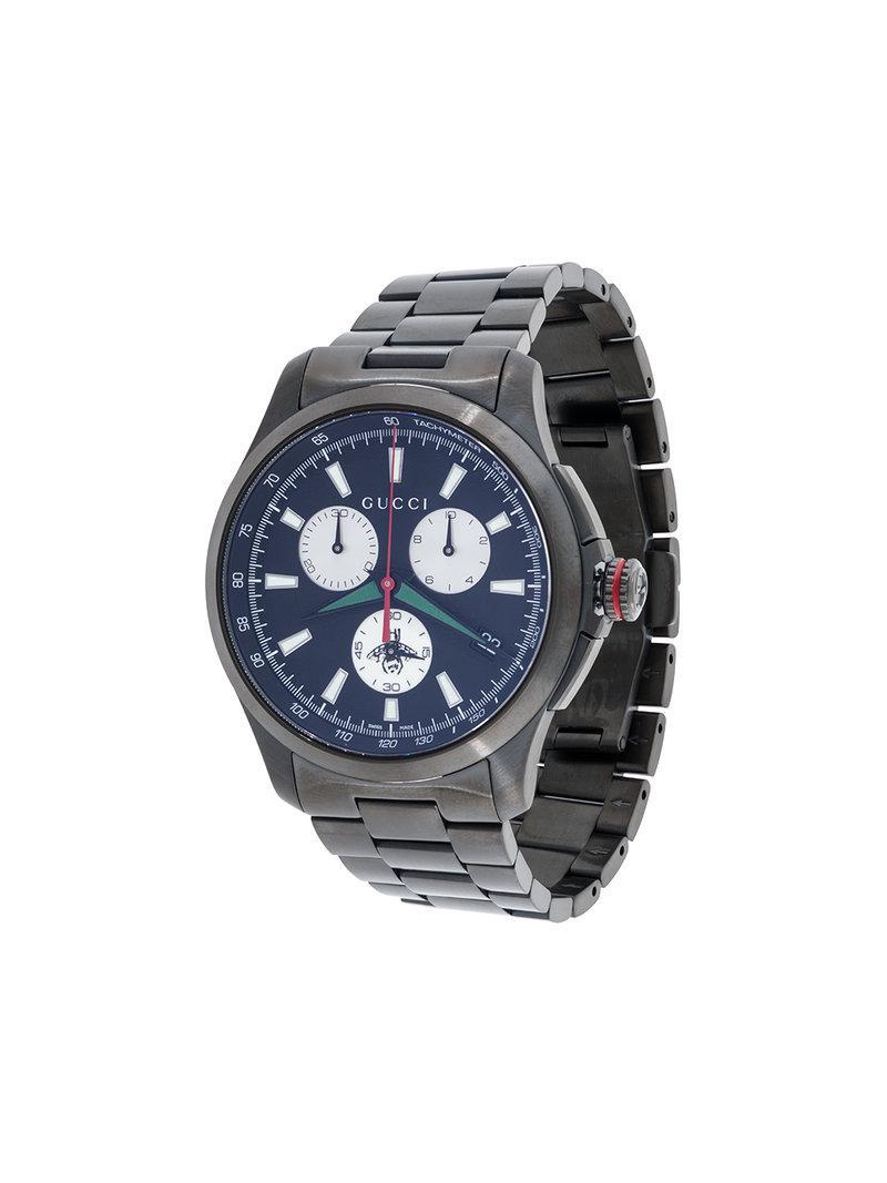 c0c0e5885 Gucci - Black Orologio 'g-chrono' for Men - Lyst. View fullscreen