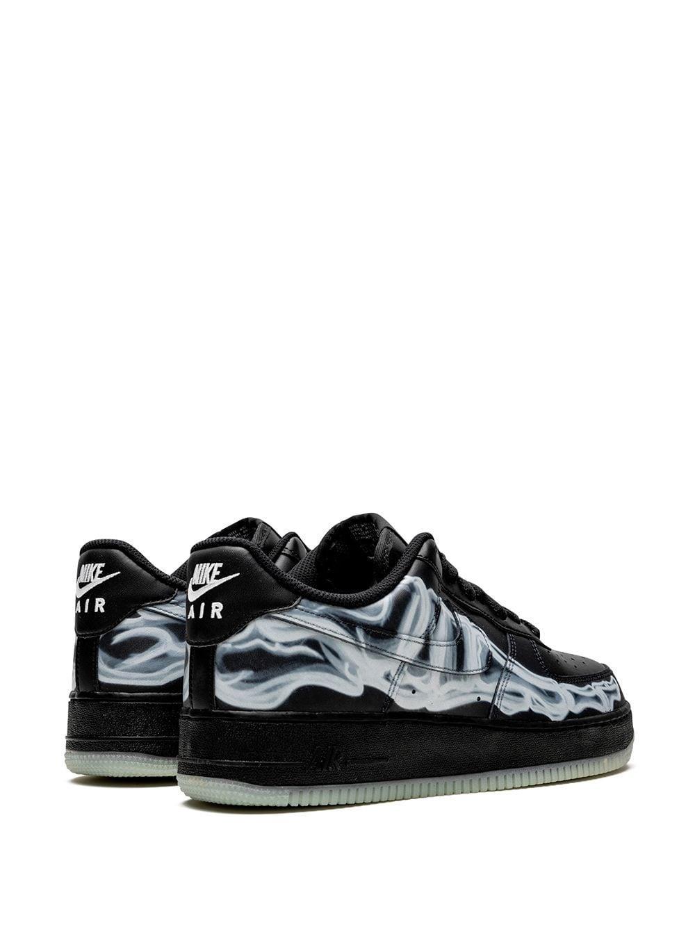 Baskets Air Force 1 '07 Skeleton QS Cuir Nike en coloris Noir 6BCe