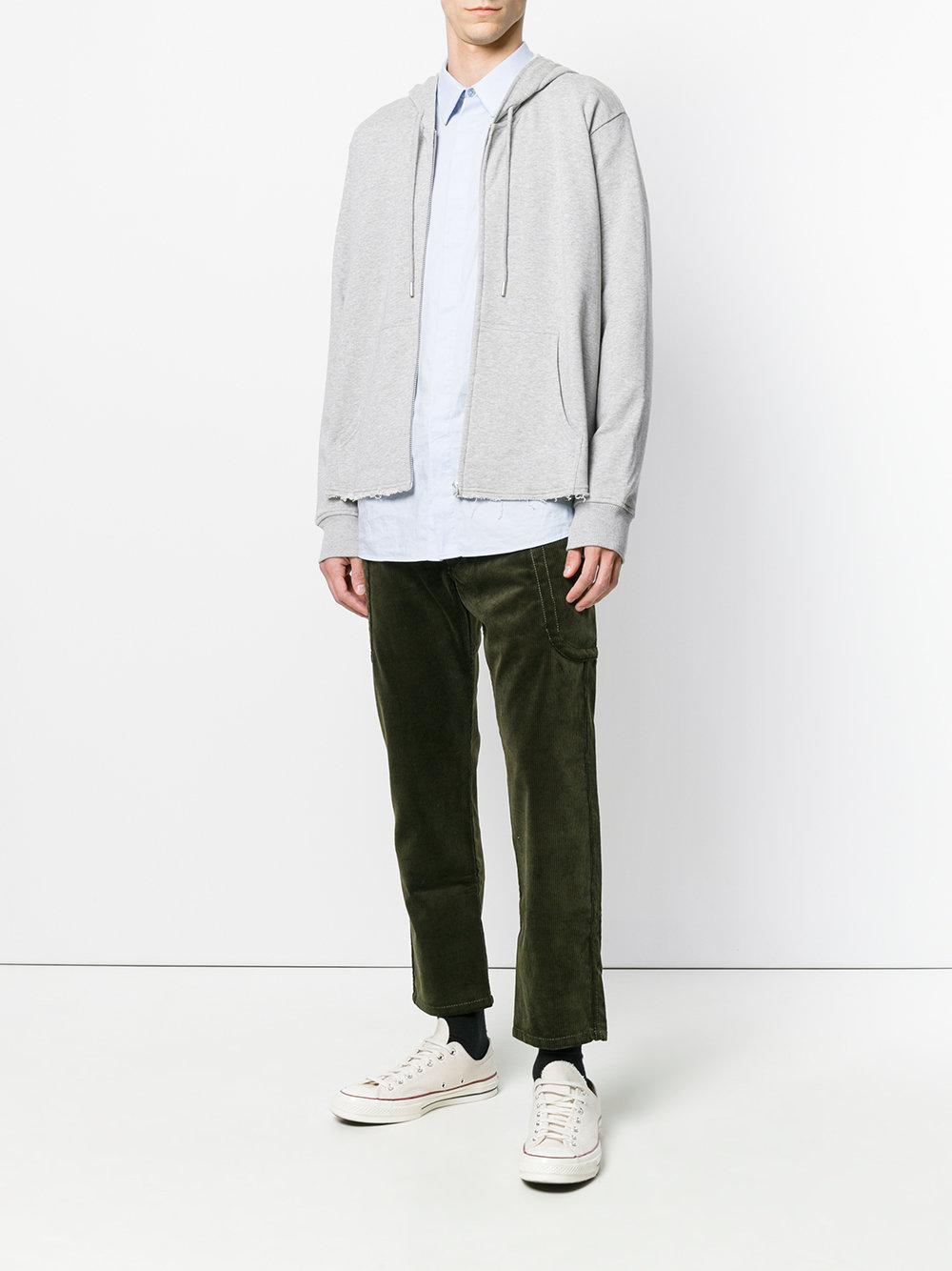 Comme des Garçons Corduroy Cropped Trousers in Green for Men