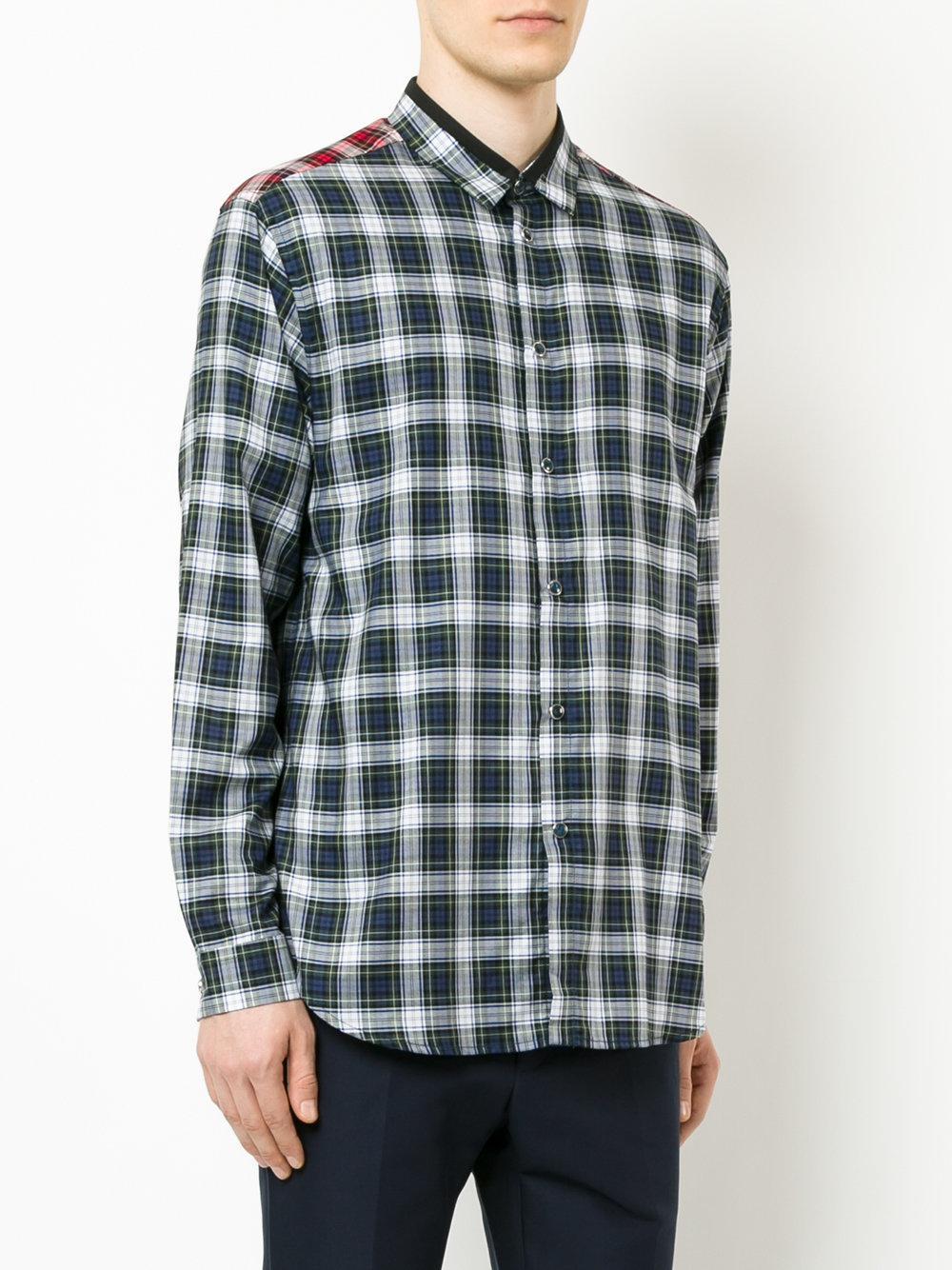 Lyst N 21 Plaid Shirt In Green For Men