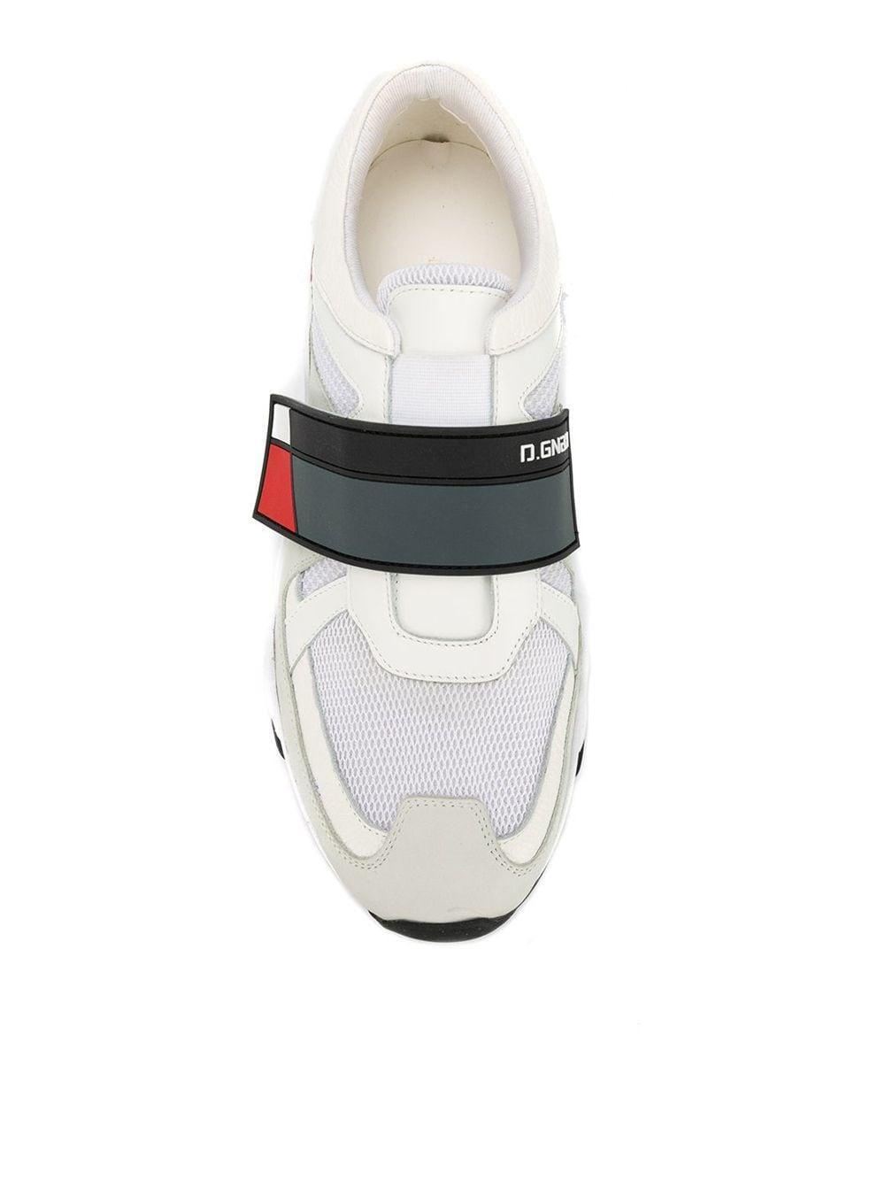 Zapatillas con logo en la correa D.GNAK de Cuero de color Blanco para hombre