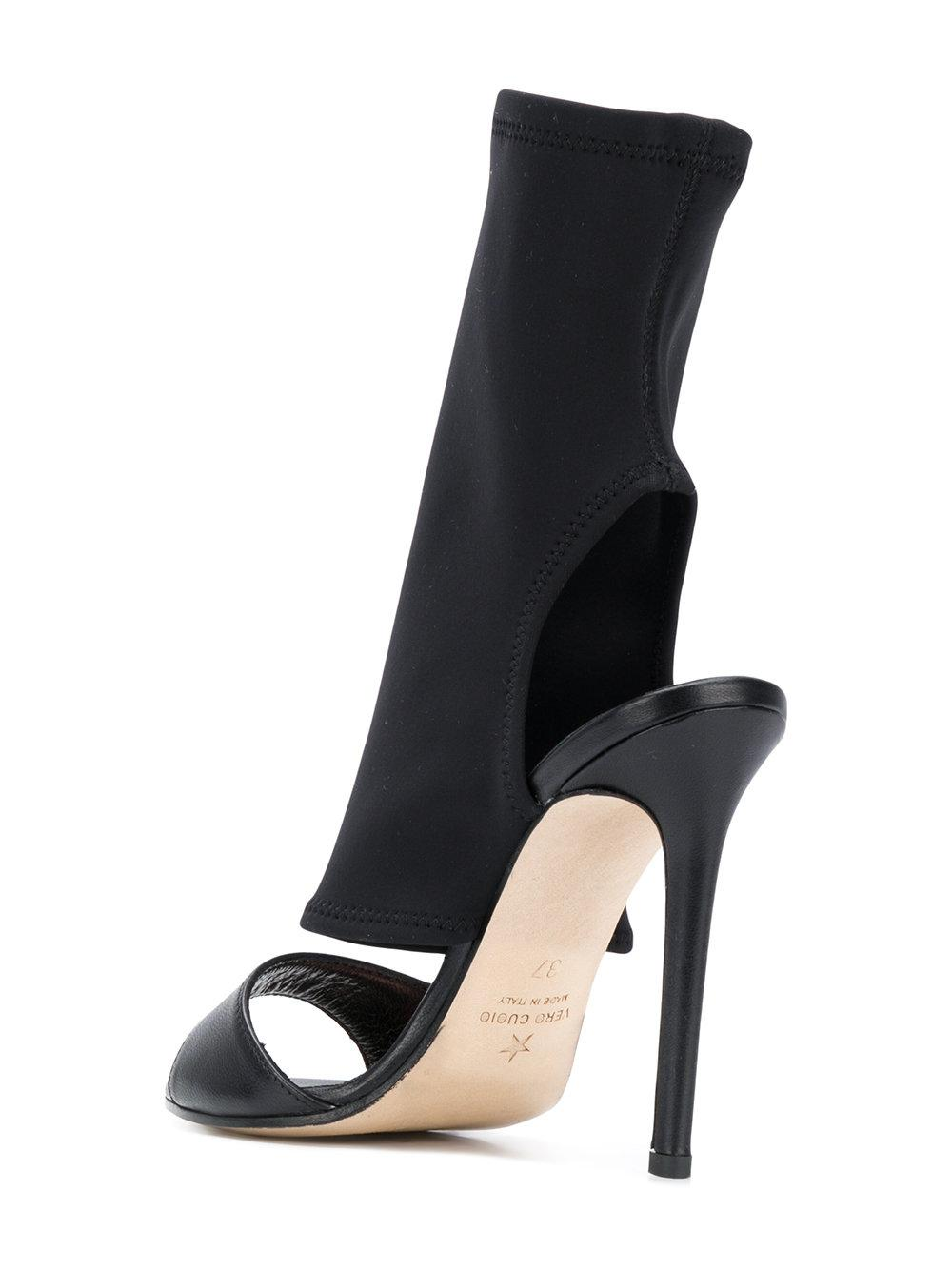 sock style cut out detail sandals - Black Marc Ellis uEyw5v5WP8