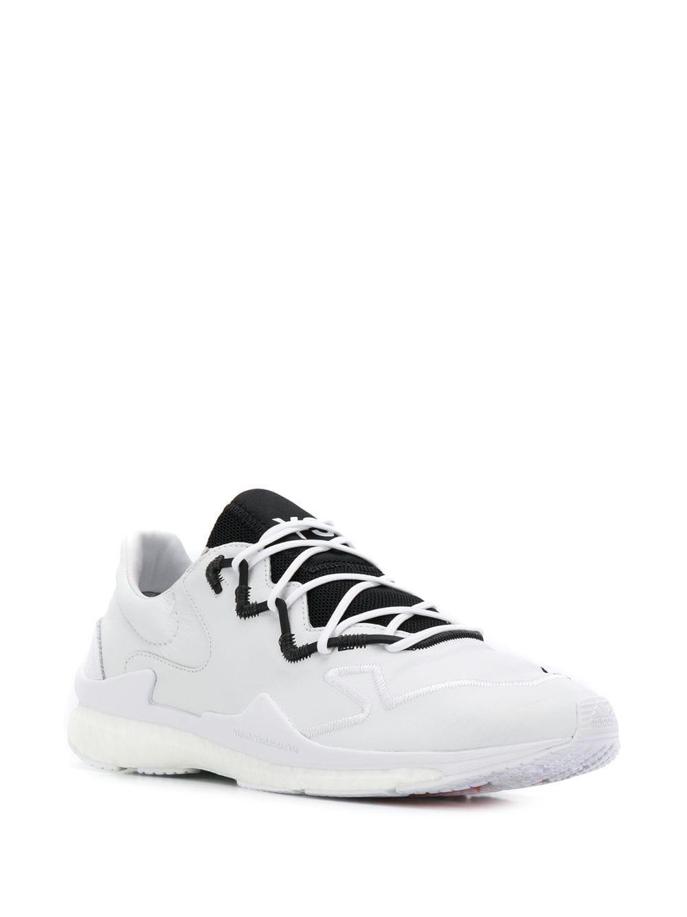 Y-3 Leer Adizero Runner Sneakers in het Wit voor heren