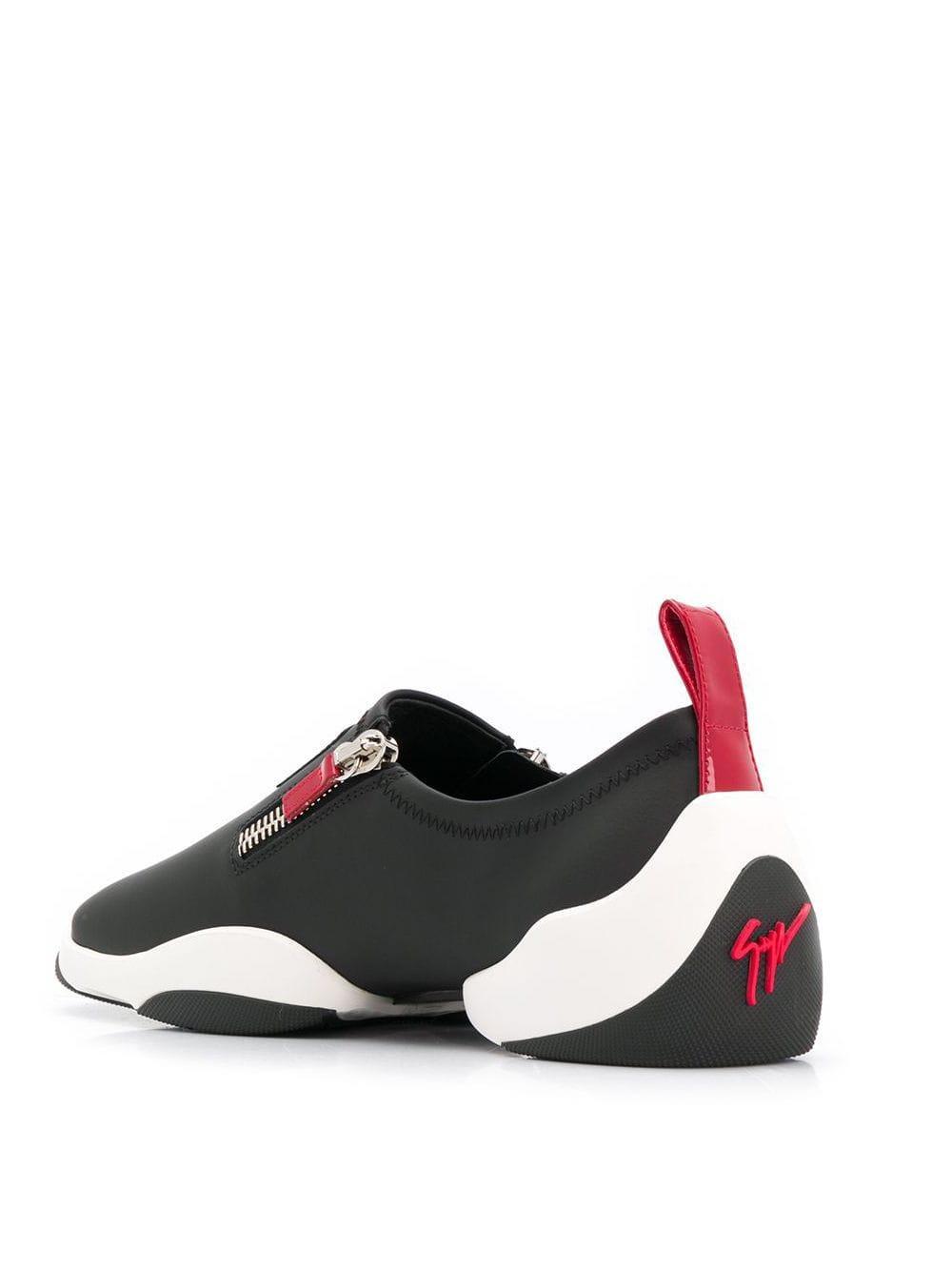Giuseppe Zanotti Leer Light Jump Sneakers in het Zwart voor heren