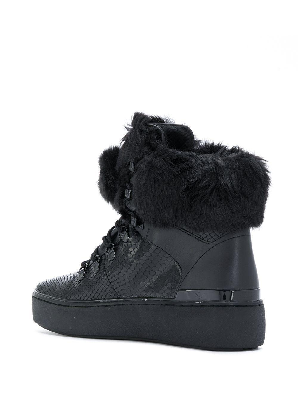 Zapatillas altas con ribete de pelo MICHAEL Michael Kors de Cuero de color Negro