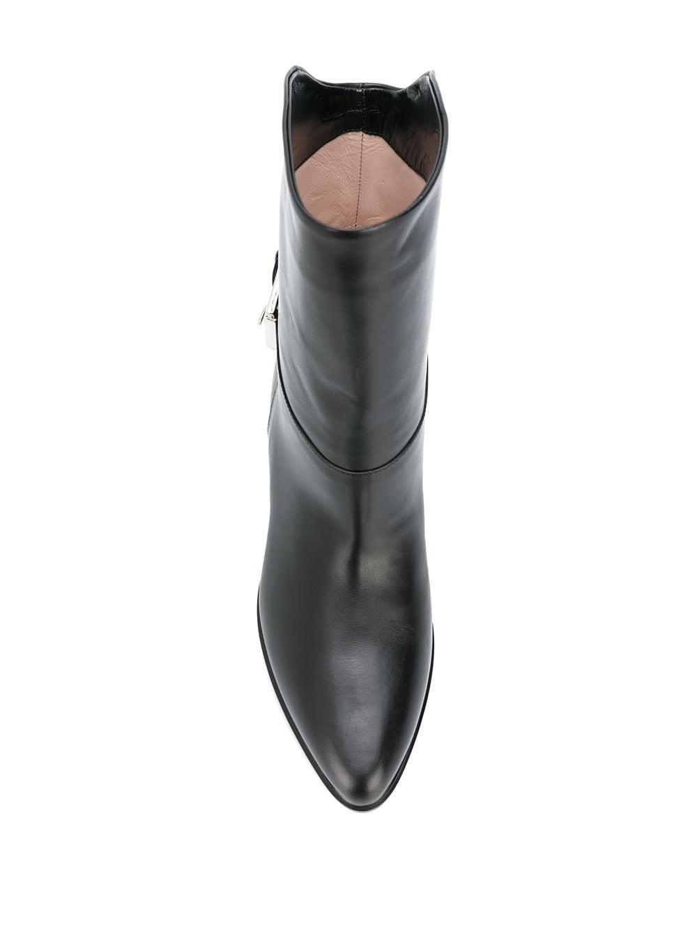 Botines con hebilla N°21 de Cuero de color Negro