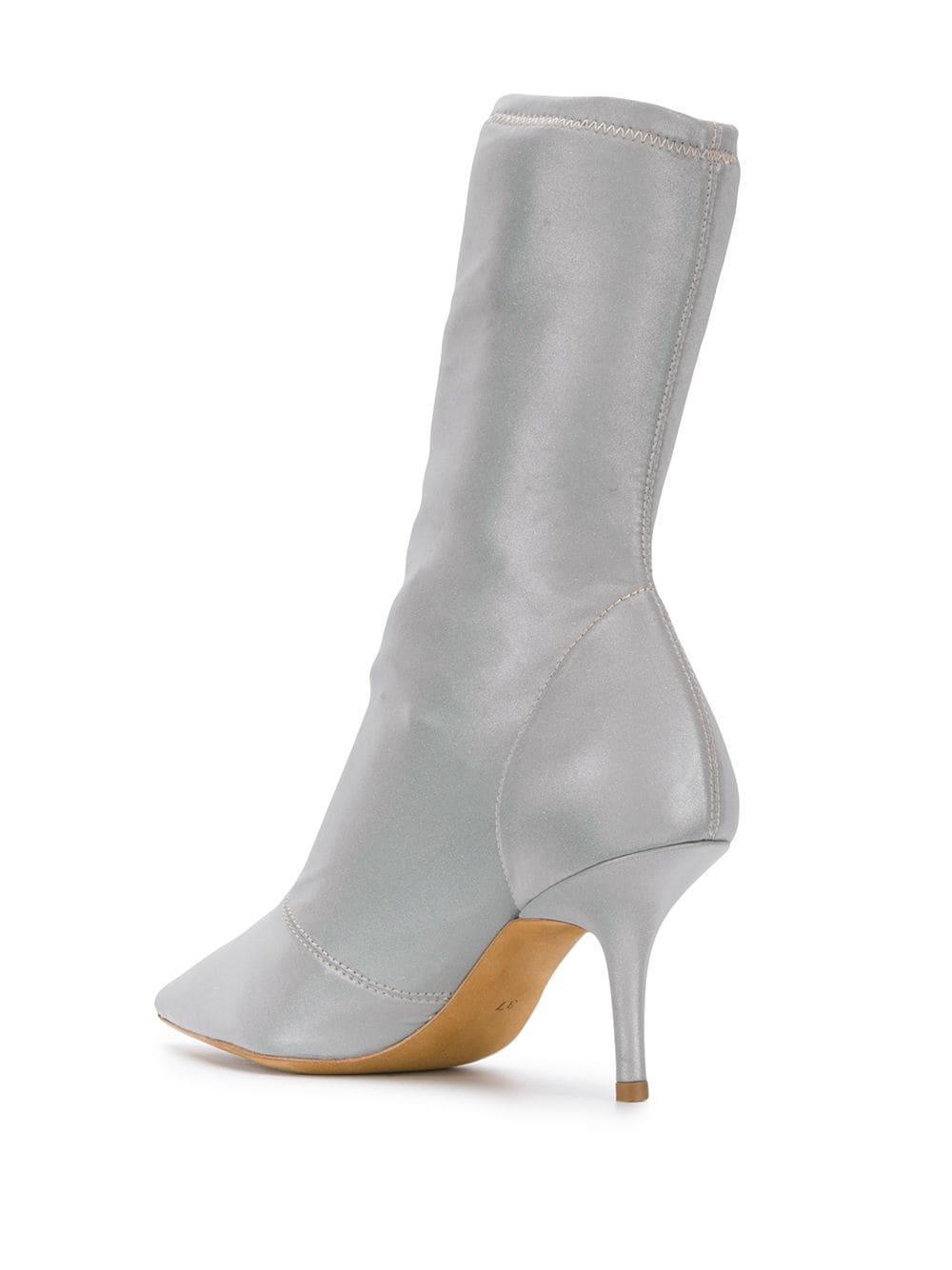 Botas estilo calcetín con puntera en punta Yeezy de Cuero de color Gris