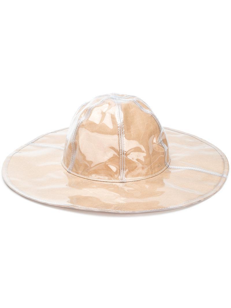 Lyst - Sombrero con diseño natural Comme Des Garçons de color Neutro d23e5ae018e