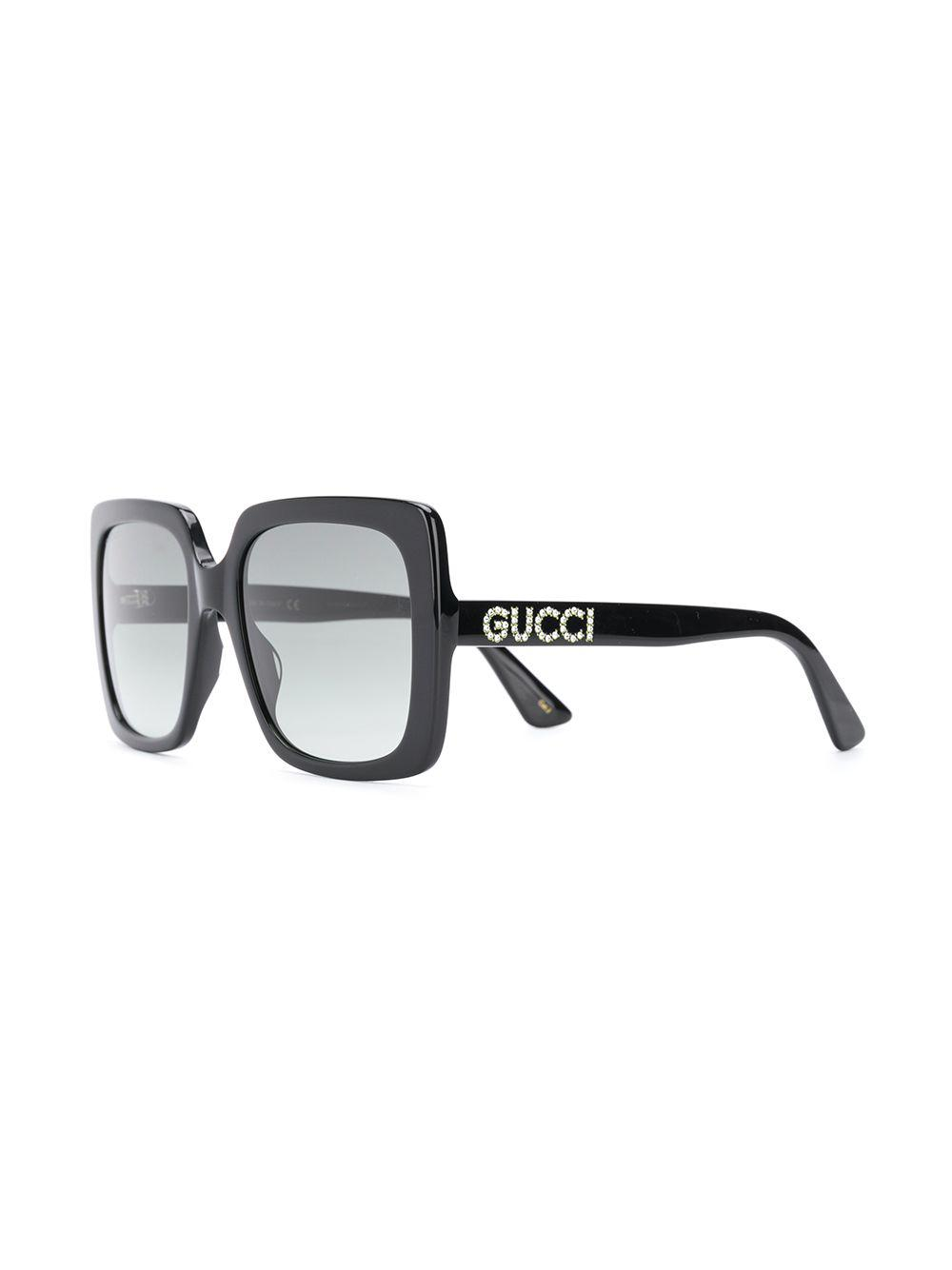 0b8c82be1f46d Gucci Mass Large Square Sunglasses in Black - Lyst