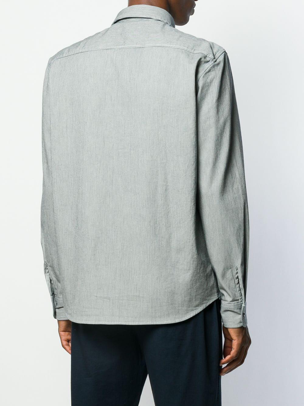 A.P.C. Katoen Overhemd Met Lange Mouwen in het Zwart voor heren