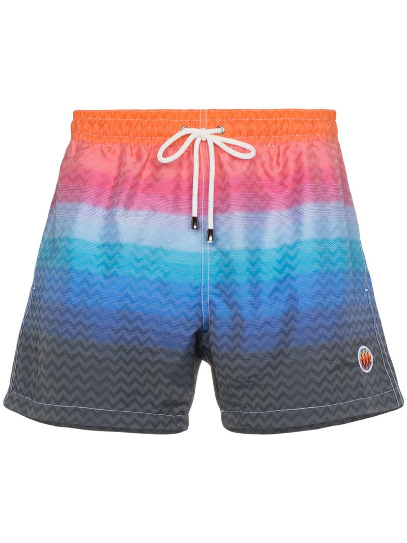 6e193cc696 Lyst - Missoni Gradient Stripe Swim Shorts in Blue for Men - Save 22%
