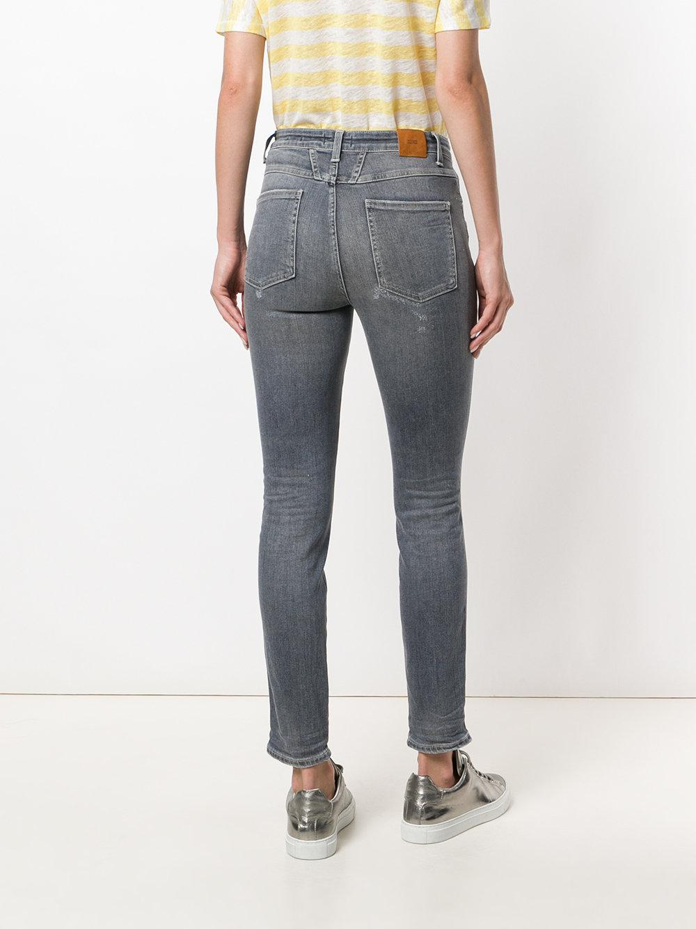 Closed Denim Distressed Skinny Jeans in Grey (Grey)