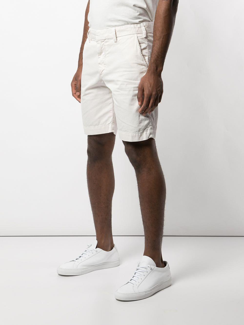 Save Khaki Katoen Shorts Van Twill in het Wit voor heren