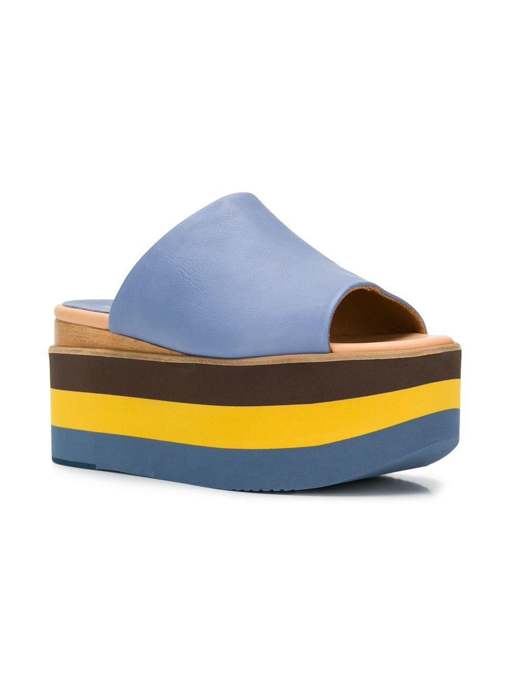 60ca2011fcba Lyst - Paloma Barceló Aiko Platform Sandals in Blue