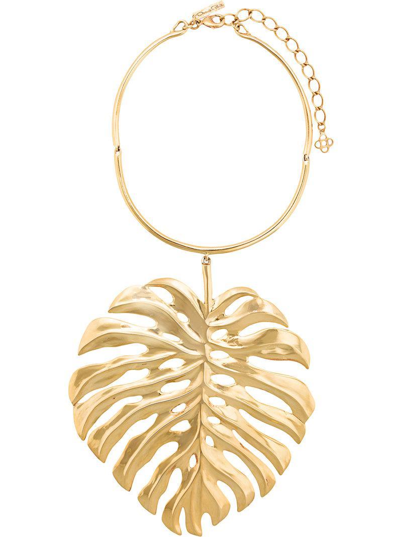 palm leaf choker necklace - Yellow & Orange Oscar De La Renta VlZ9Vksh