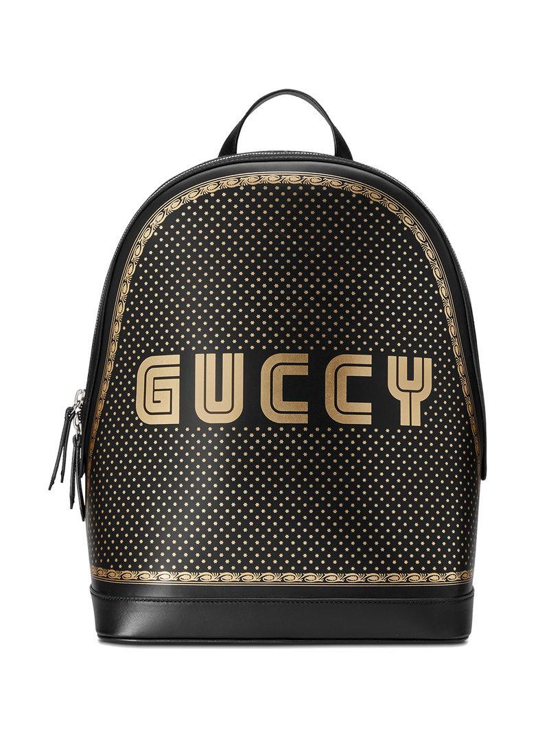 Lyst - Gucci Guccy Medium Backpack in Black for Men deef42836115a
