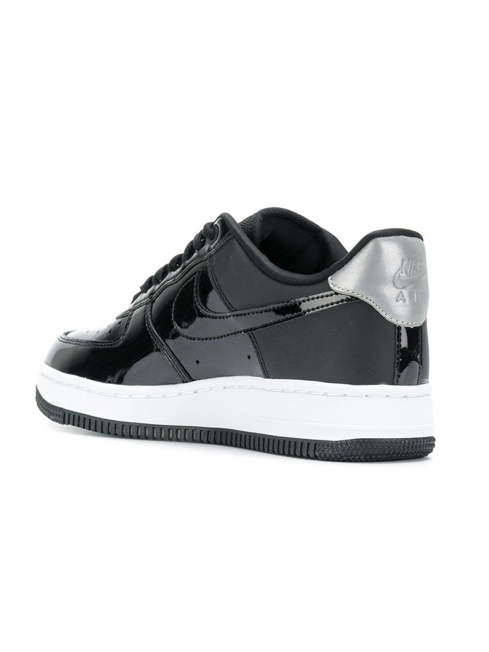 Nike Leather Air Force 1 Sneakers in Black