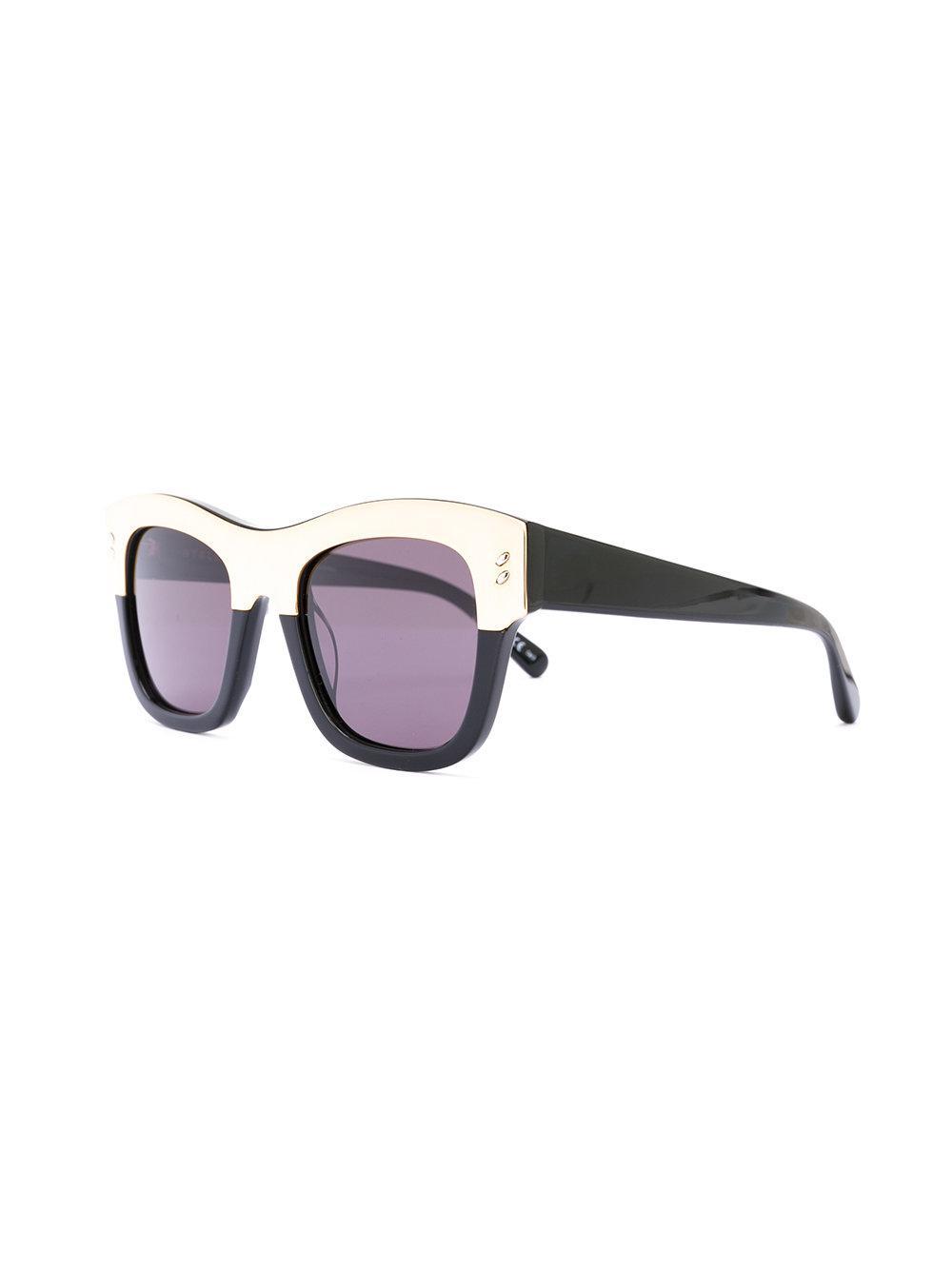 Stella McCartney Two-tone Square Sunglasses in Black