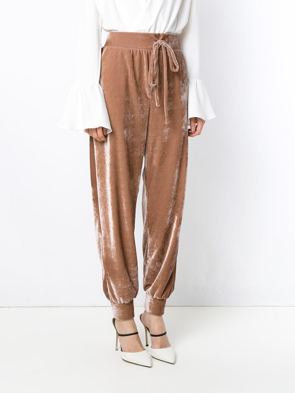 Olympiah Synthetic Pisco Sour Track Pants in Brown