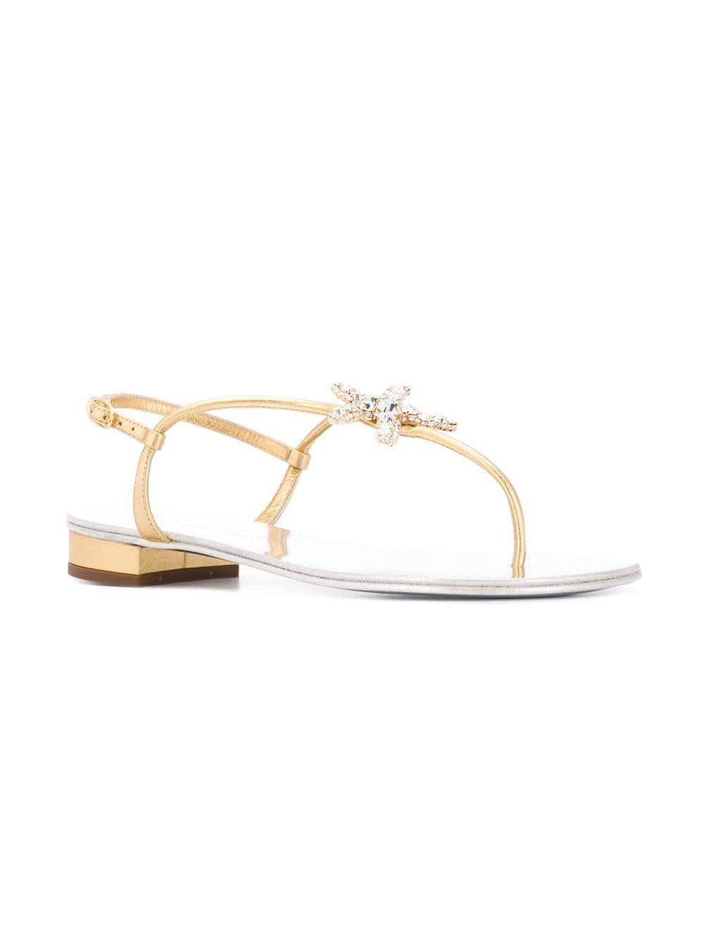 413e16707ebf1 Giuseppe Zanotti - Metallic Hollie Sandals - Lyst. View fullscreen