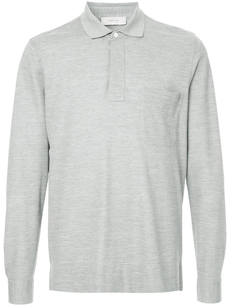 Shopping Online Cheap Sale Authentic long sleeve polo shirt - Grey Cerruti Low Shipping Fee Shopping Online Cheap Online nvWQ4lOa