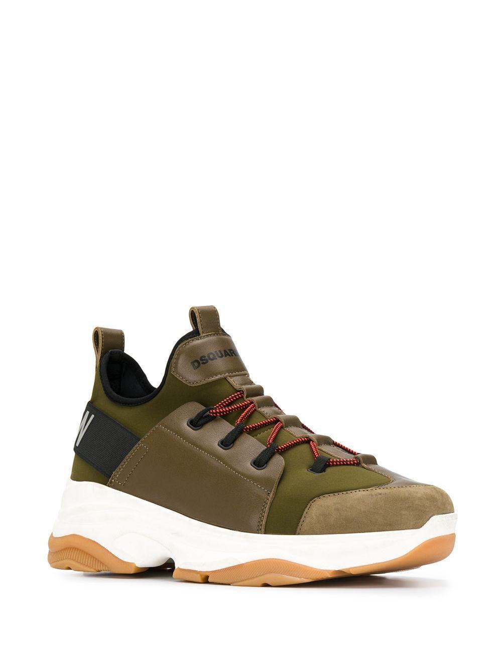 Zapatillas con suela gruesa DSquared² de Cuero de color Verde para hombre