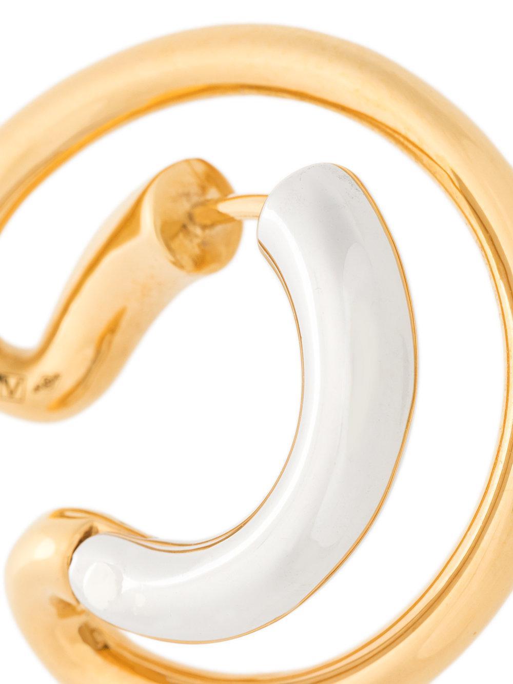 small Ego earring - Yellow & Orange Charlotte Chesnais hKeQuLcuzr