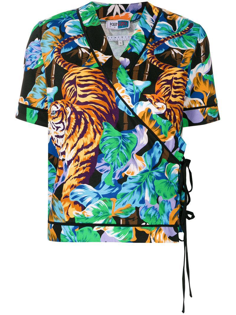 27f2c24a Kenzo Bamboo Tiger Kimono Top - Lyst