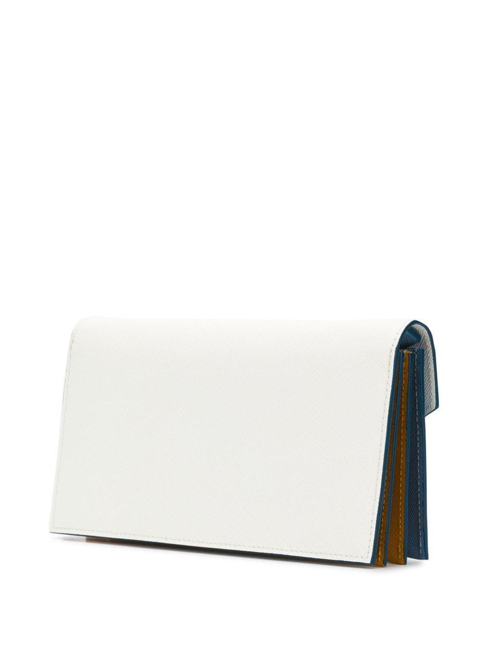 Portefeuille Bellows Cuir Marni en coloris Blanc
