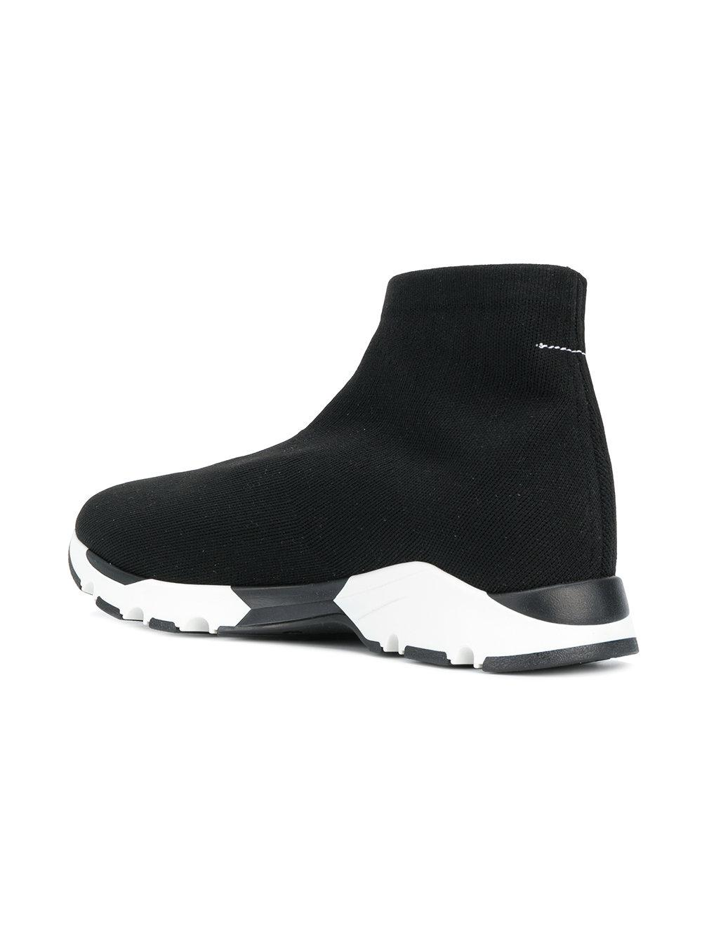 panelled sock sneakers - Black Maison Martin Margiela