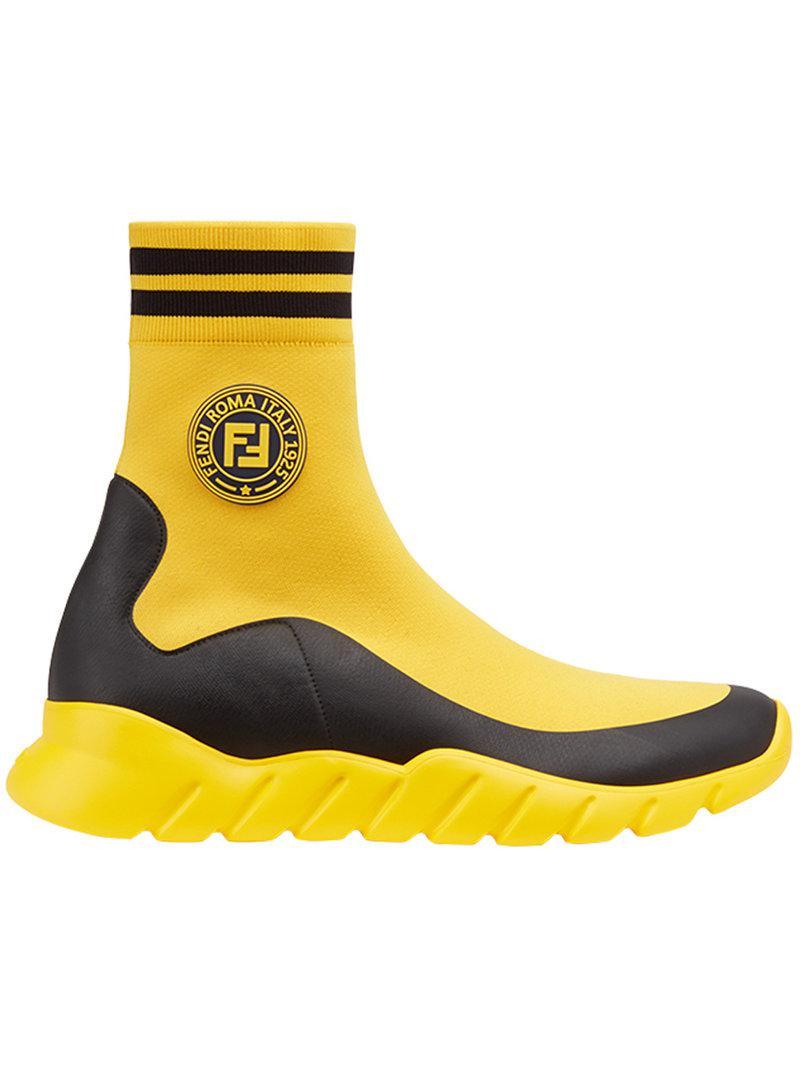 yellow fendi boots off 56% - www