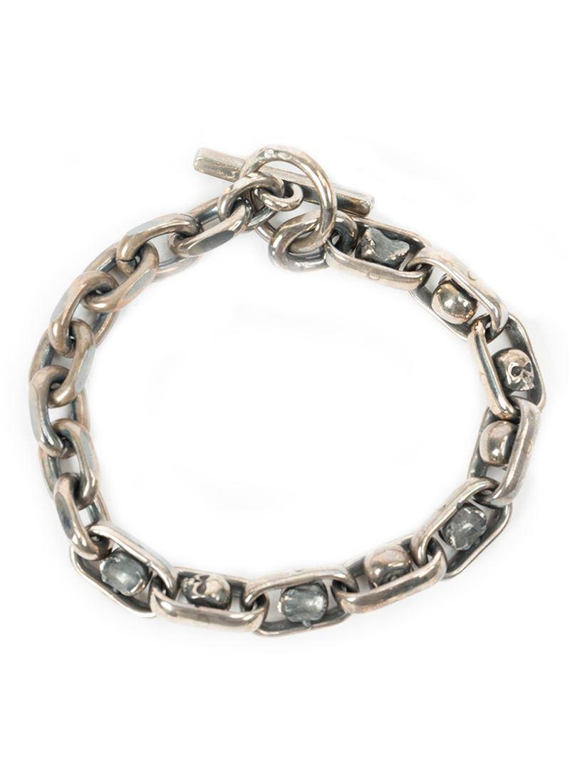 Tobias Wistisen framed skull bracelet - Metallic attleH1