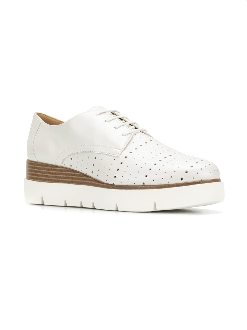 c58f27de277e5 Geox Kattilou Lace-up Shoes in White - Lyst