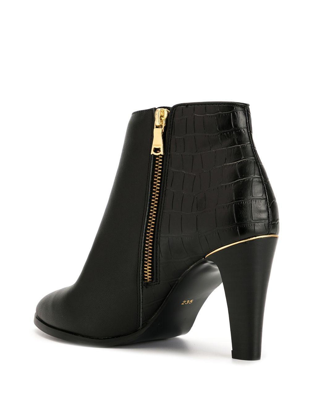 Botines con tacón alto Loveless de Cuero de color Negro