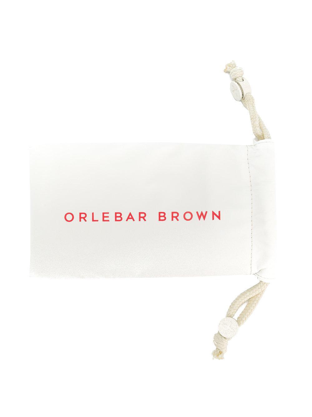 Orlebar Brown Round Frame Sunglasses in Blue for Men