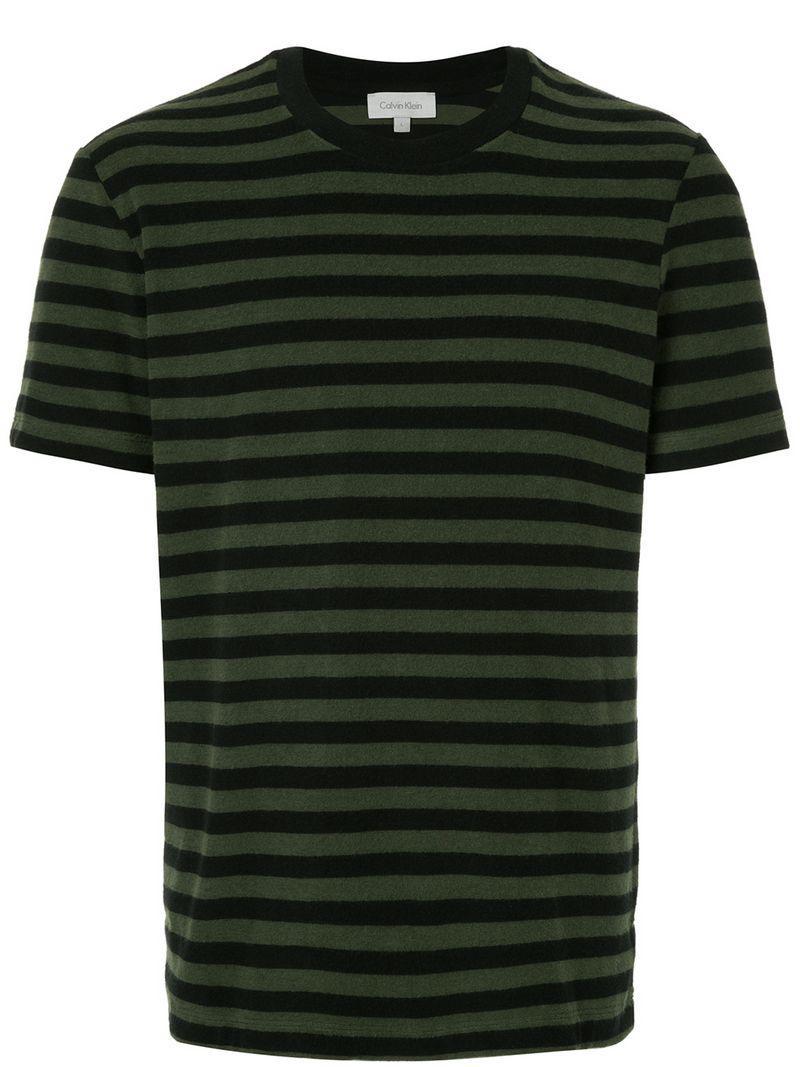 11caf82306 Calvin Klein - Black Striped T-shirt for Men - Lyst. View fullscreen