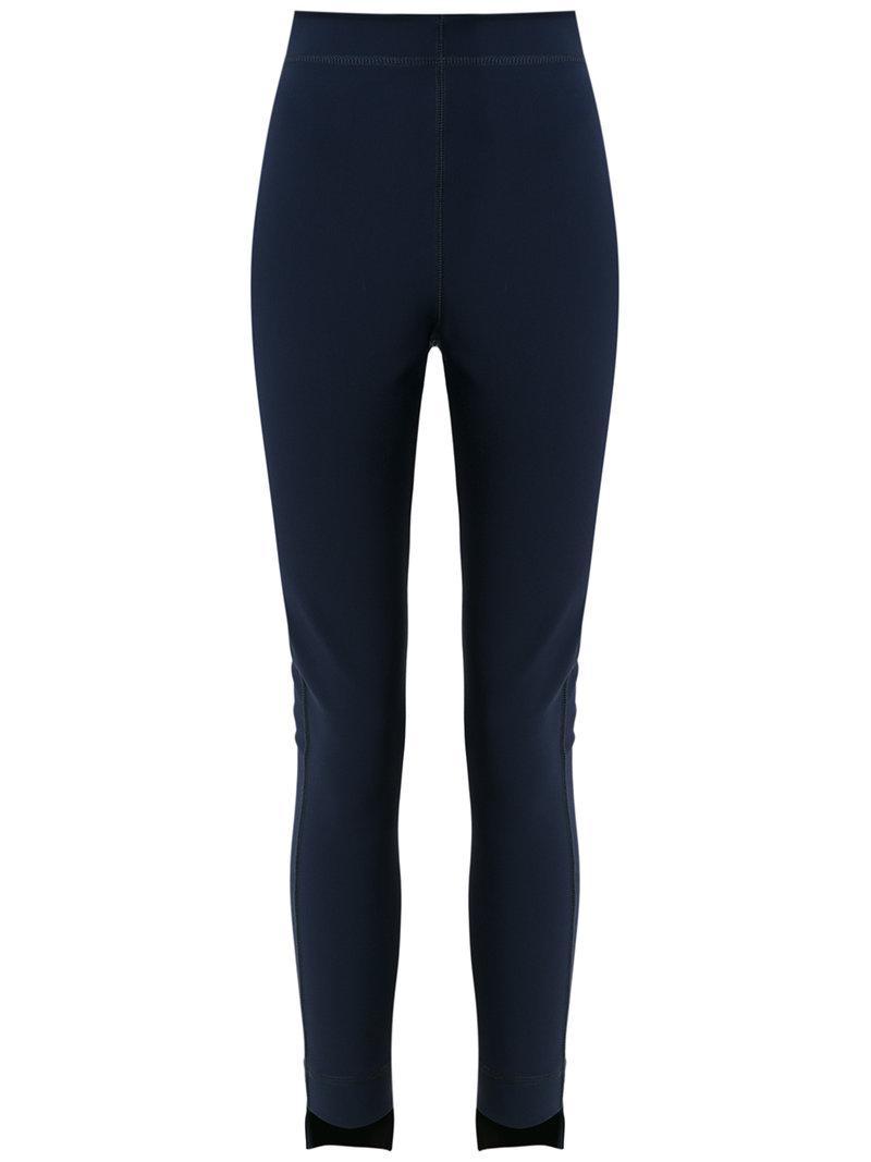 high low hem leggings - Blue Gloria Coelho UanmBVv5