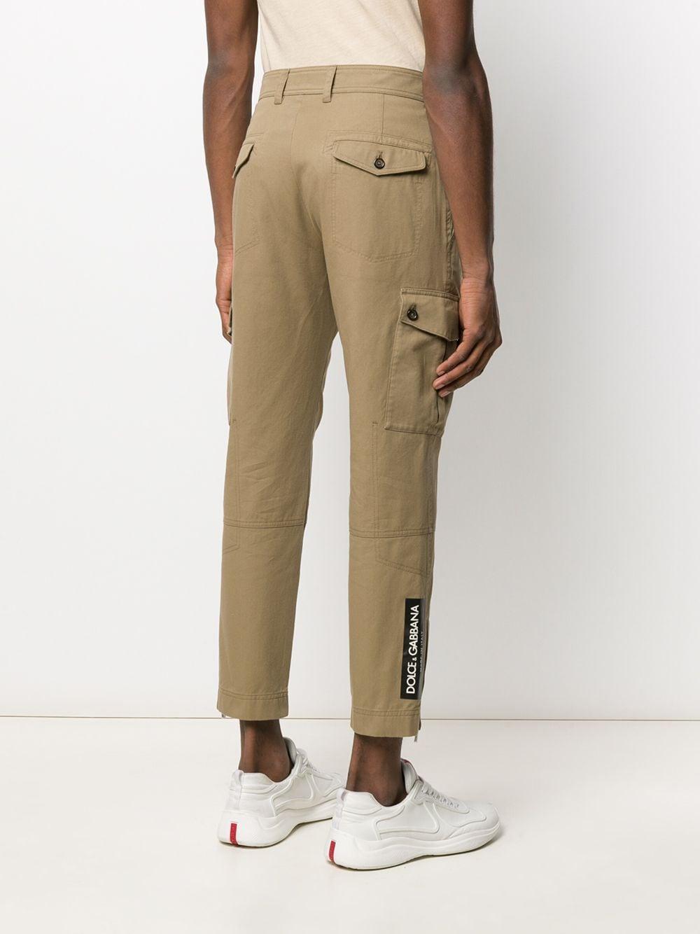 Dolce & Gabbana Synthetisch Cargo Broek in het Naturel voor heren