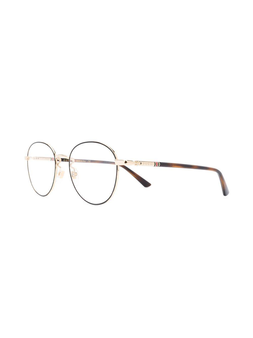 dd3da48721 Gucci - Black Round Glasses for Men - Lyst. View fullscreen