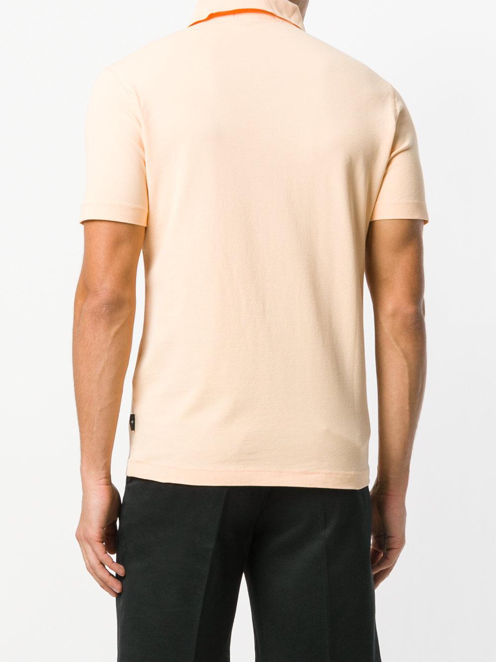 Lyst stone island stretch polo shirt for men for Stretch polo shirt mens
