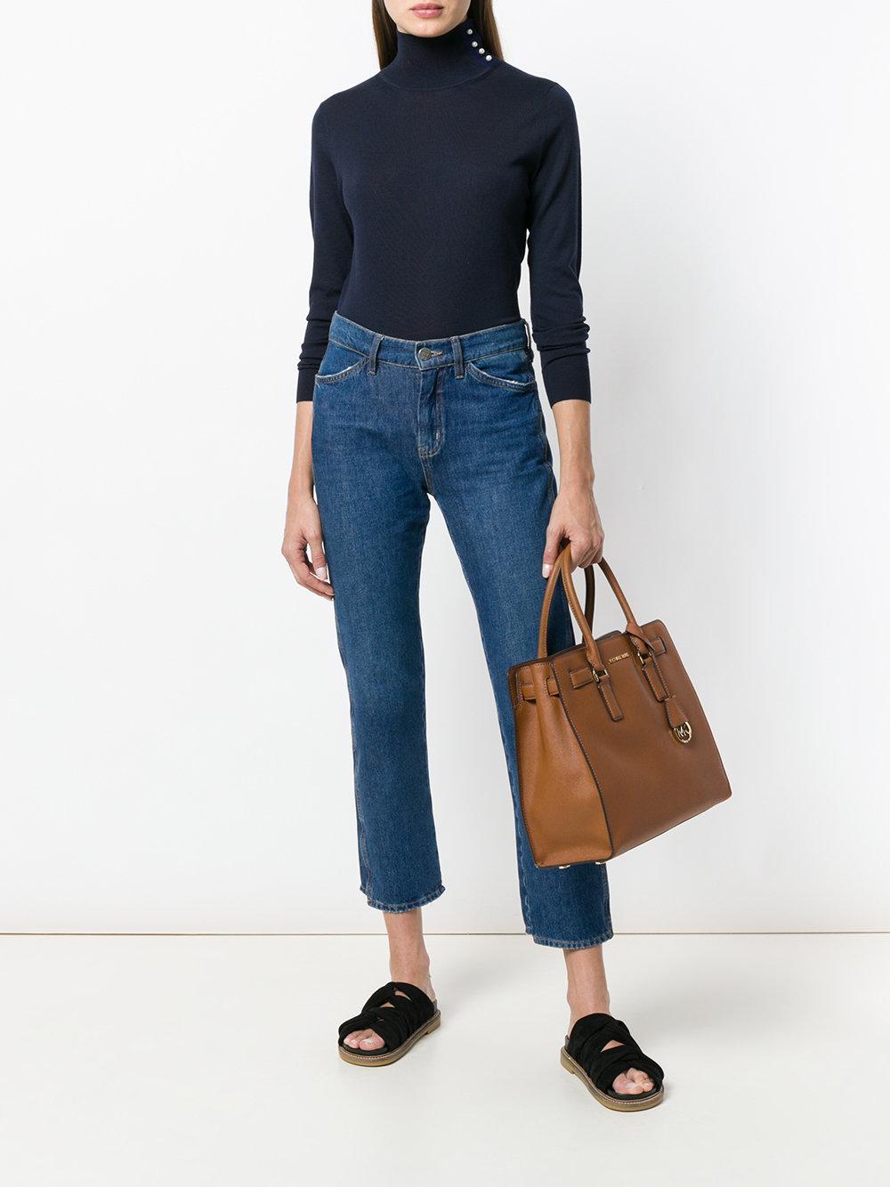 MICHAEL Michael Kors Leather Dillon Tote Bag in Brown