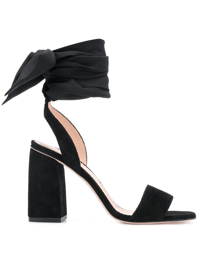 Sandales Cravate Rouge Cheville Valentino - Noir ZuOnTGoF