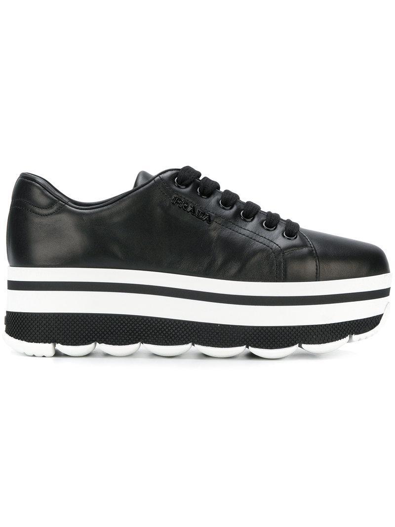 Prada Stacked sole sneakers C3eZIOukeR