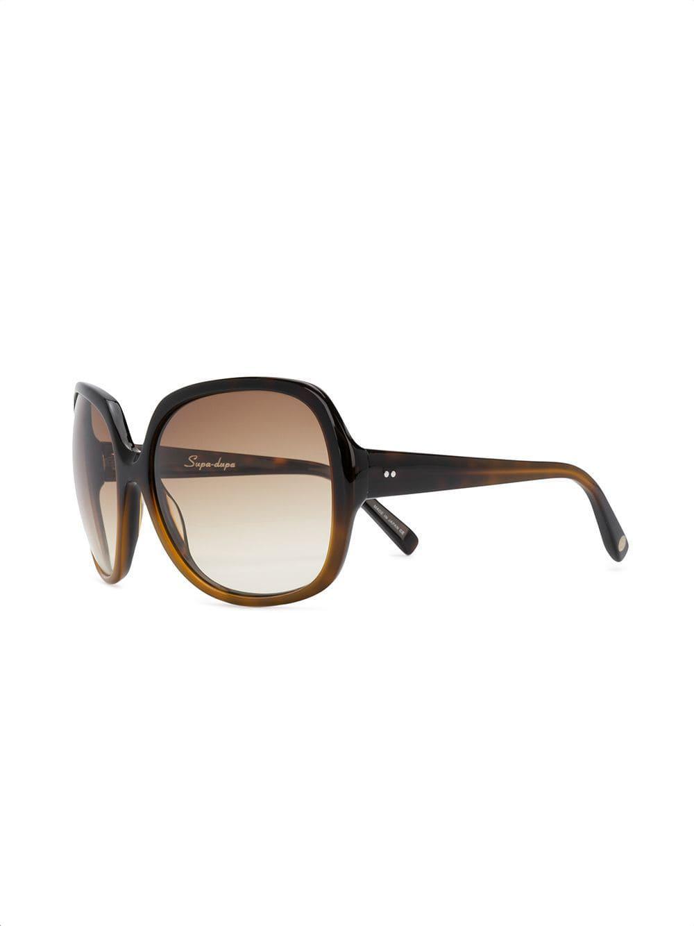10a52958a4e Dita Eyewear - Brown Square Tinted Sunglasses - Lyst. View fullscreen