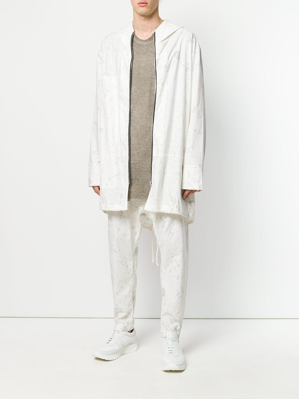 Lost and Found Rooms Cotton Splatter Print Jacket in White for Men